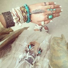 Boho Accessories Bracelet Ring Cuff  Chain  - #gipsy #ethno #indian #bohemian #boho #fashion #indie