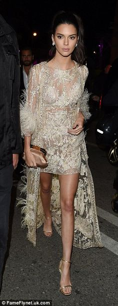 Kendall Jenner joins mum Kris and Scott Disick at Cannes Chopard bash Slinky: Kendall meant business when she strutted into the venue on Monday… Beautiful Gowns, Beautiful People, Boutique Fashion, Kendall And Kylie Jenner, Mode Outfits, Elie Saab, Kardashian, Cannes Film Festival, Evening Gowns