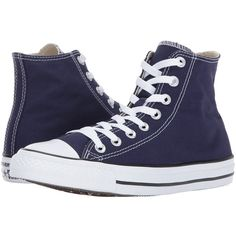 Converse Chuck Taylor All Star Hi (Midnight Indigo) Classic Shoes (730 ARS) ❤ liked on Polyvore featuring shoes, sneakers, canvas high tops, canvas sneakers, converse high tops, high top canvas sneakers and canvas hi tops