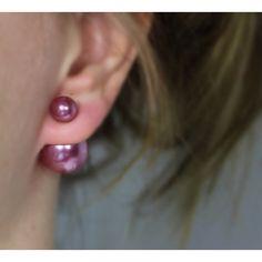 Náušnice dvojité Shiny Burgundy #earrings #fashionjewelry #fashionjewellery #costumejewelry #costumejewellery #bijouterie #bijoux #fashion #style #accessories