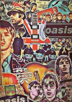 Oasis art courtesy of Newell Prints. Music Pics, Music Images, Music Artwork, Liam Gallagher Oasis, Noel Gallagher, Wonderwall Oasis, Oasis Music, Oasis Band, Band Wallpapers