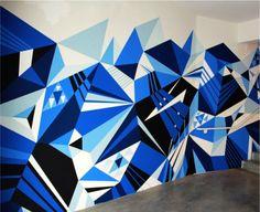 http://capturcall.fr/ #art #géométrique #blue #capturcall