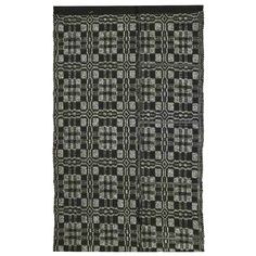 Homee Decor Thistle Black Light Grey Indoor Outdoor Area Rug Size X