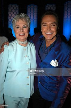 Shirley Jones and David Cassidy during The TV Land Awards -- Backstage at Hollywood Palladium in Hollywood, CA, United States. (Photo by Jeff Kravitz/FilmMagic)