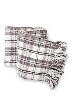 """Nordstrom Rack - Chenille Plaid Throw - 50"""" x 60"""". Free Shipping on orders over $100."""