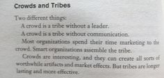 Seth Godin - Tribes (#crowds)