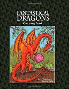dragon adult coloring page book