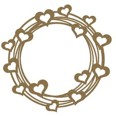 1 laser cut chipboard full of love frame. 6