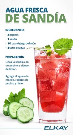 Mexican Cooking, Mexican Food Recipes, Tea Recipes, Cooking Recipes, Healthy Juices, Drinking Tea, Fresco, Smoothies, Deserts