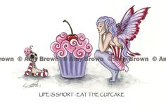Eat the Cupcake 8.5x11 Fairy Print by Amy Brown by AmyBrownArt, $14.00