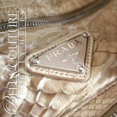b0f82311dfdd NEW RARE AUTHENTIC PRADA Beige Python Snakeskin Washed Leather Bag Tote  Handbag Purse