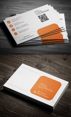 Orange Creative Business Card #businesscards #corporatedesign #businesscarddesign #psdtemplates