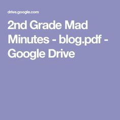 2nd Grade Mad Minutes - blog.pdf - Google Drive
