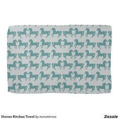 Horses Kitchen Towel #Horse #Animal #Repeat #Art #Kitchen #Towel