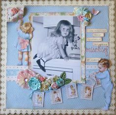 lovely vintage baby layout idea