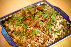 Mujadara (Rice, Lentils and Caramelized Onion Pilaf)   Just had this dish at Mamouns in New Haven, can't wait to make it at home!