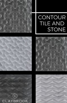 Introducing the Contour Tile and Stone Collection from Claybrook Interiors. This collection of unique and hand crafted tiles is a mix between modern and classic, while also adding the excitement of a unique texture. Our show-stopping tile and stone from this collection is available in all different colors and styles to meet your interior design preferences. Shop now! Minimalist Bathroom Design, Bathroom Design Luxury, Luxury Interior Design, Mosaic Tiles, Mosaics, Couch Design, Stone Tiles, Tile Patterns, Luxurious Bedrooms