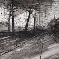 Dominique Cameron - The Wood - Fidra Fine Art landscapeillustration Landscape Photography, Fine Art, Fine Art Painting, Abstract Landscape, Tree Art, Landscape Illustration, Landscape Art Painting, Landscape Drawings, Abstract Art Landscape