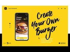 Tasty burger ui design case study tubik #ui #animation #interface #appdesign #dribbble