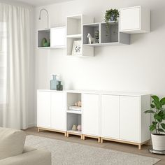EKET Storage combination with legs, white/light gray. With the EKET series you can build your storage big, small, colorful or discreet to either display or hide your things. And if your space and needs change, you can easily change your EKET solution too. Ikea Eket, Ikea Hack, Painted Drawers, White Stain, Home Remodeling, Home Furniture, Furniture Stores, Luxury Furniture, Room Decor