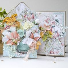 Понравилось Adult Crafts, Diy And Crafts, Floral Letters, Shaped Cards, Scrapbook Cards, Scrapbooking, Diy Cards, Decorative Boxes, Shabby Chic