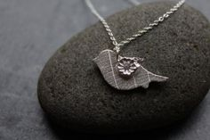 Natural bird pendant by michellelobbdesigns on Etsy, £32.00