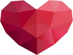 Low Poly Series - Red Heart Icon