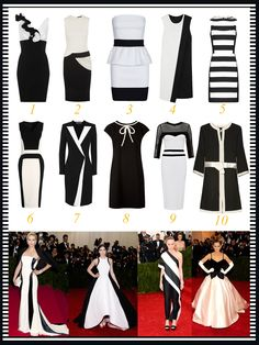 Die for Style: Monochrome dresses!