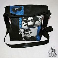 """KABELKA NEJEN CROSS BODY """" MUŽI MUŽŮM """" Módní trendy MALÁ-VELKÁ kabelka nejen """"cross body"""" - i přes rameno z černé syntetické kůže v kombinaci s pevnou dekorační bavlnou se vzorem mužů v slunečních brýlích, kamínků a džínoviny. Autorská extravagantní kabelka je ušita z pevné černé eko-kůže (koženky) a ze100 % bavlny v odstínech: černo-šedo-modrá z pevné ... Cross Body, Crossbody Bag, Backpacks, Bags, Handbags, Dime Bags, Backpack, Totes, Hand Bags"""