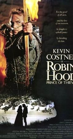 Directed by Kevin Reynolds.  With Kevin Costner, Morgan Freeman, Mary Elizabeth Mastrantonio, Christian Slater. When Robin and his Moorish companion come to England and the tyranny of the Sheriff of Nottingham, he decides to fight back as an outlaw.
