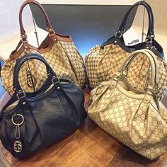 Loving these Gucci bags! All available to purchase on www.mymoshposh.com! #gucci #guccihandbags #gg #guccisukey #designerhandbags #purselover #inlove #fashion #trendy #luxury #moshposhfinds #mymoshposh #designerconsignment