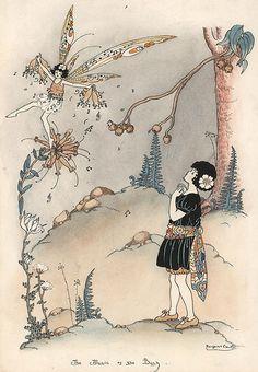 Margaret Clark Illustrators, Mystical Art, Vintage Fairies, Illustration, Faery Art, Fairytale Illustration, Fairy Artwork, Art, Unicorn And Fairies