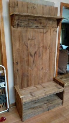 Entryway Coat Rack And Bench Made From Pallets House