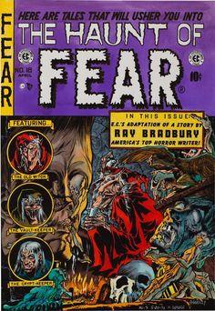 Portada para 'The Haunt of Fear' de 'Ghastly' Graham Ingels, el ilustrador de EC Comics que mejor captaba, para  mí, lo grotesco y la degeneración, tanto física como psíquica. Un maestro pocas veces reivindicado.