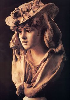 Auguste Rodin - Girl with Roses on her Hat -