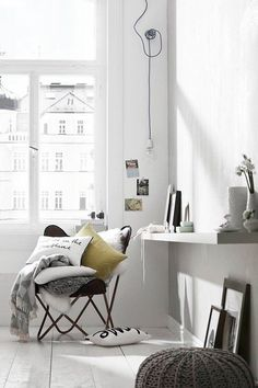 "#nordic, #butterflychair // without all the ""decorative"" pillows"