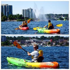 Tourists from Switzerland chose @happypaddlingadventures for their first ever #kayak experience, enjoying spectacular #Barrie views from the water! #getoutandplay #visitbarrie #happypaddling