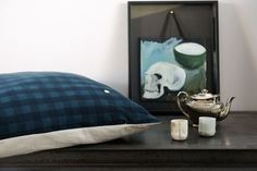 Cushions cover Vichy so Blue by La Cerise sur le Gateau