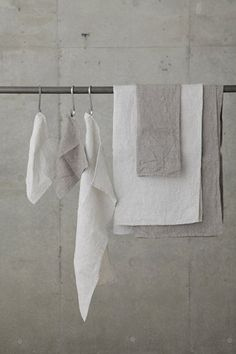 Linen washed waffle towels by Fog Linen at White Nest Market