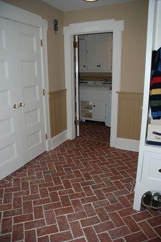 Entryways and hallways - Inglenook Brick Tiles - thin brick flooring, brick pavers, ceramic brick tiles, brick floors.