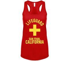 Lifeguard San Francisco California Coastal City Ocean Swimming Beach B – California T Shop San Jose California, San Francisco California, Beach T Shirts, Lifeguard, Beach Bum, Athletic Tank Tops, Coastal, Swimming, Ocean