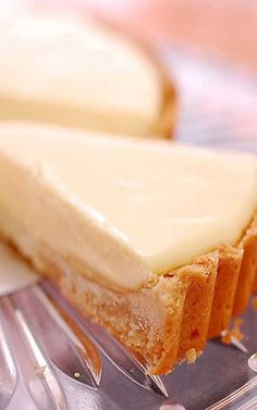 Recipe for French Lemon Cream Tart - It's creamy and light - yet rich and decadent too - and balances sweetness and tartness just right. and Photo: Velvet Lava Lemon Desserts, Lemon Recipes, Tart Recipes, Just Desserts, Sweet Recipes, Baking Recipes, Delicious Desserts, Dessert Recipes, Yummy Food