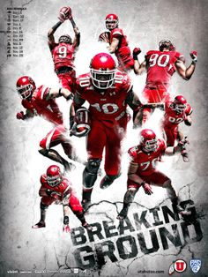 2011 University of Utah Football by T.C. de Hoyos (Lehi), via Behance.
