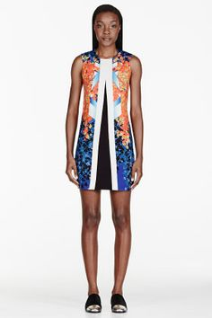 Peter Pilotto Orange & Blue Trompe L'oeil Aureta Dress for women   SSENSE