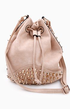 Studded Bucket Bag//