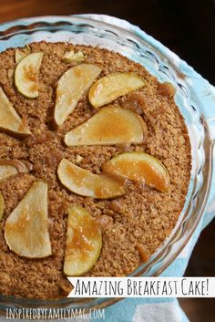 Amazing Breakfast Cake - This is one cake you won't feel guilty serving your children for breakfast! It's packed with nutrients and it's oh so very delicious!