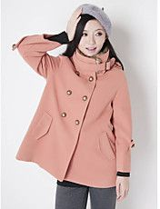 Women's Stand Collar A-Line Coat – USD $ 37.79