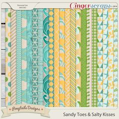 Sandy Toes & Salty Kisses Patterned Papers 2 Ponytails Designs
