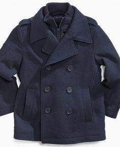 Borrowed from the boys...Tommy Hilfiger Kids Jacket, Boys Jenning Pea Coat - Macy's $139.50