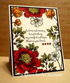 """LOVE THIS SET!!!!  Just gorgeous use of color and stamping.  Hostess set """"Bloom with Hope"""".  Go to www. gardenofcreativity.com for all your Stampin' Up! products!"""